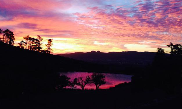 Sunset over Paarl Dam